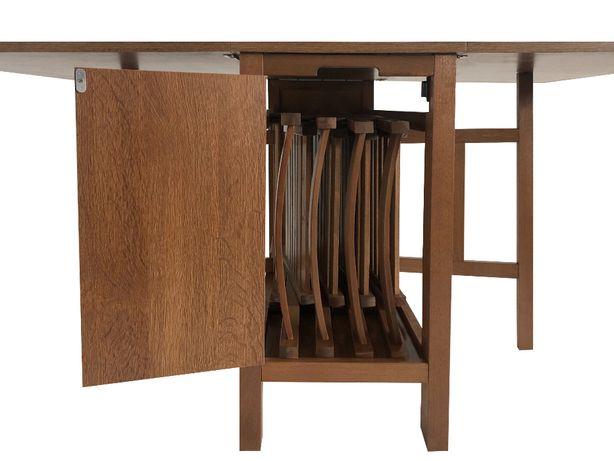 set masa cu scaune pliante lemn !