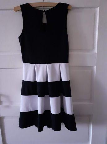 Rochie de damă  alb negru