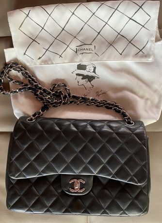 Geanta ORIGINALA Chanel Classic Jumbo Flap Bag