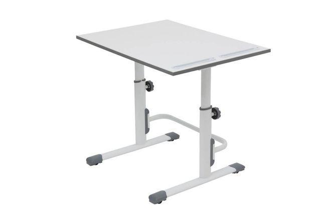 "Растущая парта-трансформер Polini ""Simple М1"", (белый-серый), 75х55 см"
