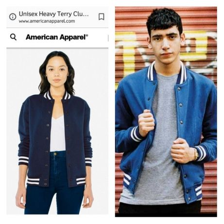 Hanorac - American Apparel baseball jacket unisex