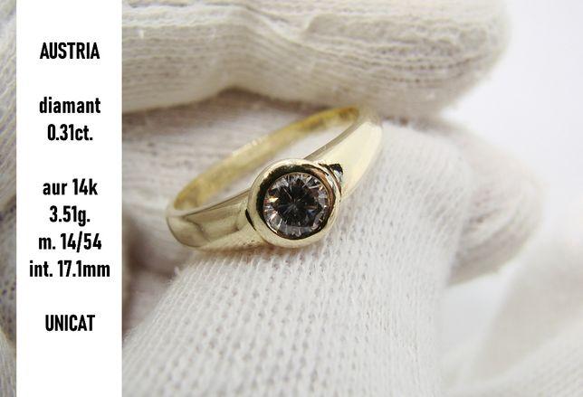 Inel Aur 14k de logodna Cu Diamant 0.31Ct.