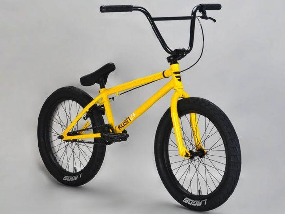 """НОВИ BMX 20"""" MAFIA KUSH2+ BLACK YELLOW БМХ колело 20 цола велосипед"""