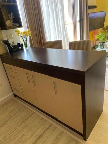 Masa/pult cu dulap si doua scaune Ikea