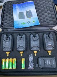 4 Senzori, avertizor pescuit cu statie Windblade c  extensie lanseta