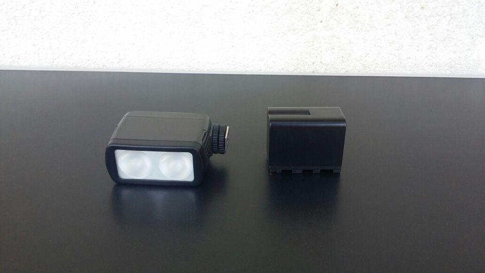 Lampa video - DVL - 20 - halogen - 2 becuri ( Sony - Panosonic - jvc ) Barlad - imagine 1