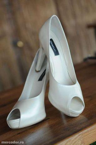 Pantofi Piele 100% naturala deosebiti ideali mireasa sau ocazie