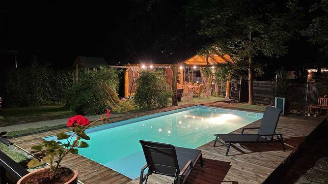 Cabana cu piscina aproape de Cluj