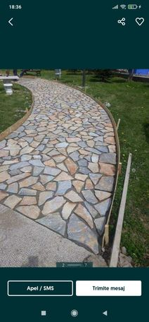 Vand piatra naturala de munte lucram ori unde in tara