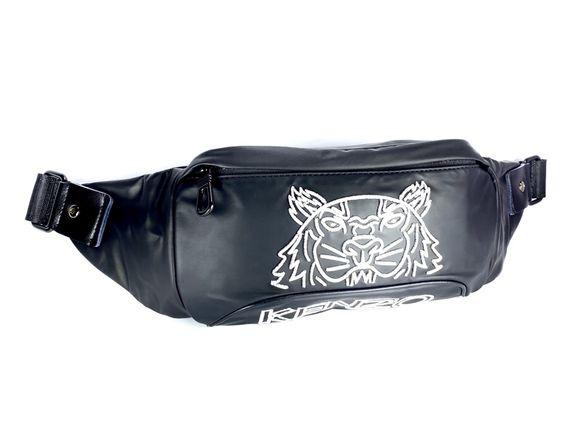 Чанта за през гърди Kenzo Black White