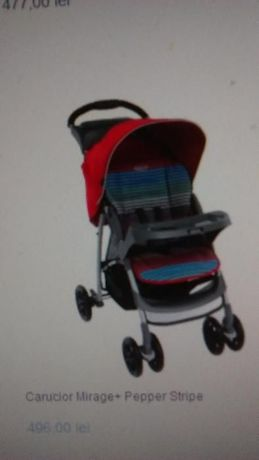 Carucior copii GRACO Mirage+ Pepper Stripe