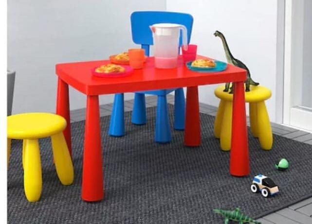 Детский стол, стул и табурет Икеа, серия  «Мамму»