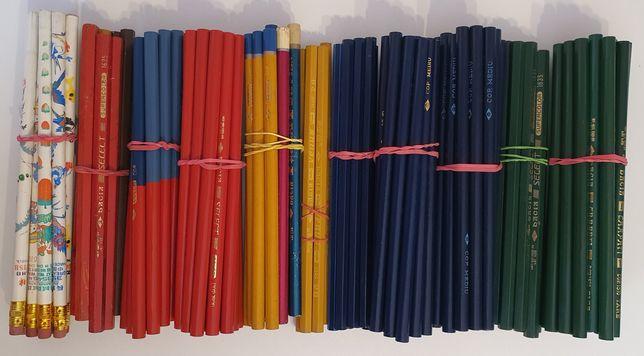 Creioane vechi românești și câteva chinezești cu radiera NEFOLOSITE