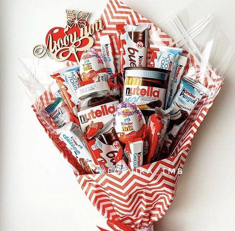Вкусные букеты. Букет из конфет. Подарки