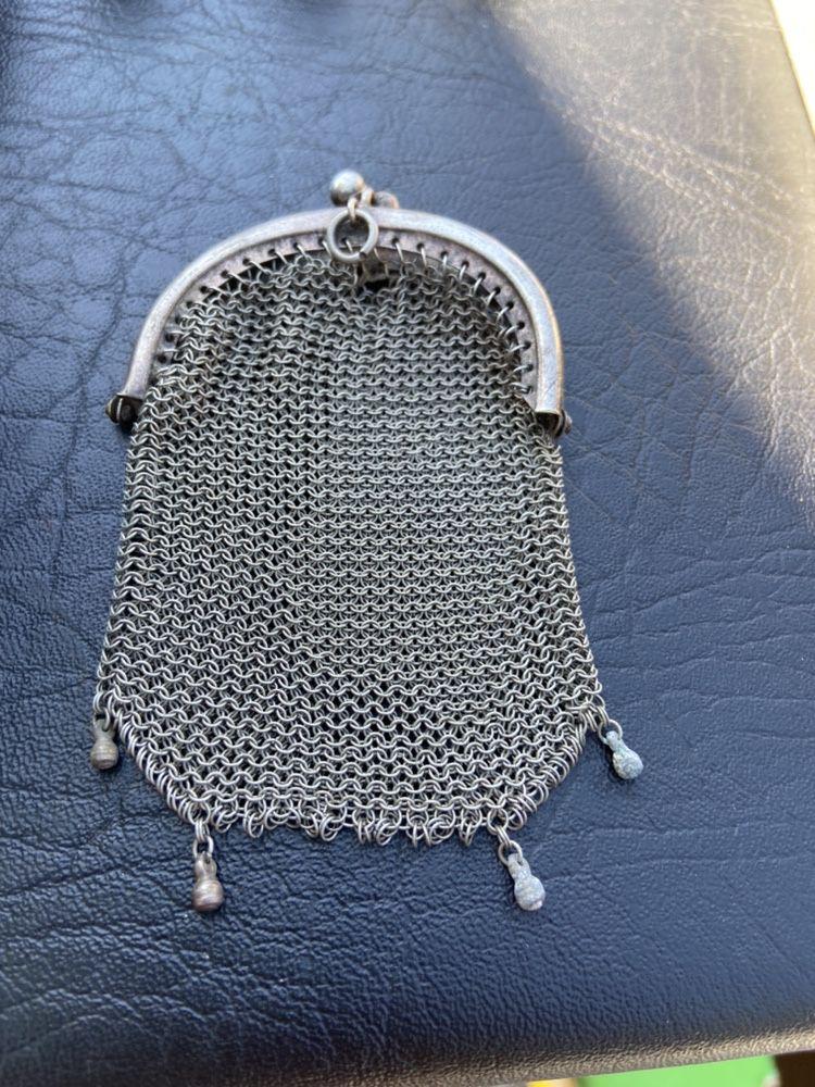 антично старо посребрено портмоне