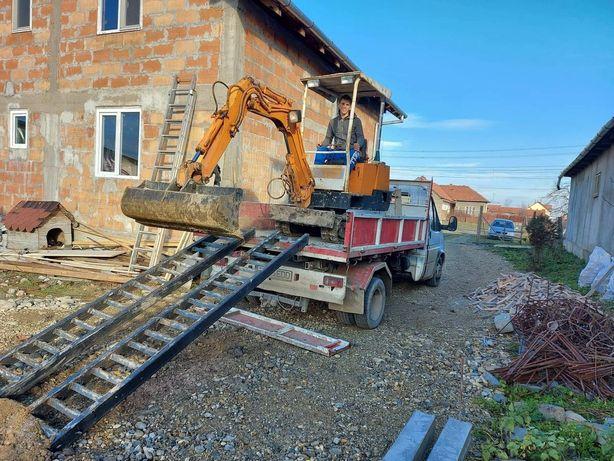 Prestam servici cu excavator și camioneta