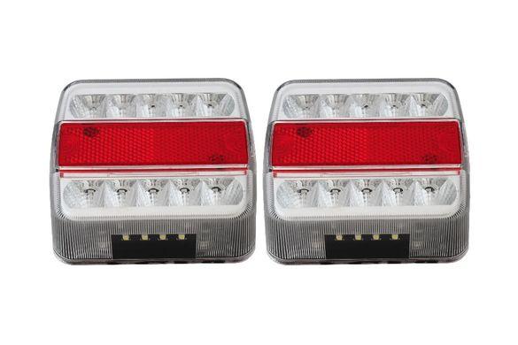 К-т от 2бр. Стопове Диодни LED 12V за Ремаркета Колесари Платформи