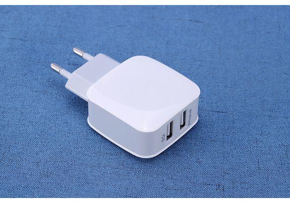 Универсално зарядно с 2 USB порта и кабел с дължина 1м