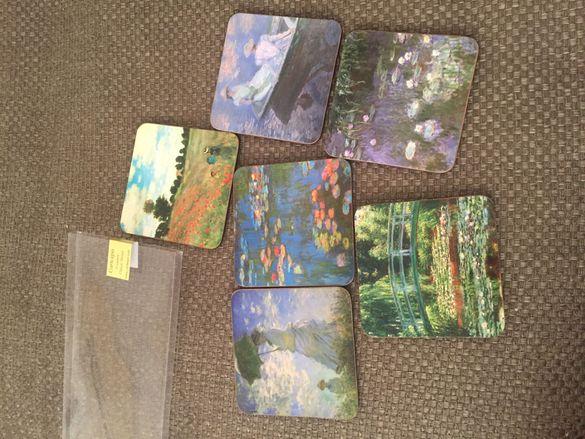 Декорация Claude Monet coasters-сувенирни чинийки за маса-кафе