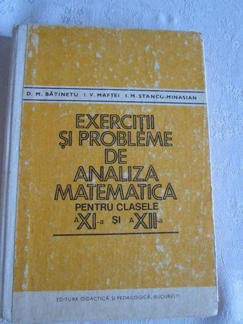 Exercitii si probleme de analiza mat. cl. a XI-a si a XII-a, Batinetu