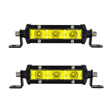 """Едноредов SLIM LED BAR 5"""" 15w жълт слим лед бар - 2бр"""