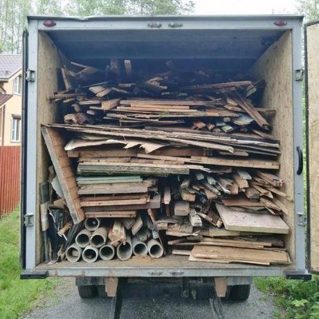 Вывозим старую мебель и строит мусор на свалку