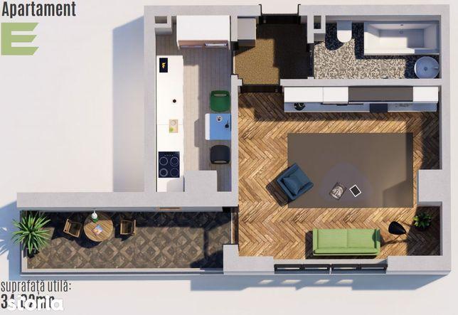 Apartament 1 camera 36mp Tatarasi-Green Park-Venetia