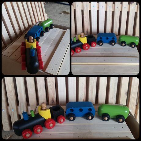 Дървена играчка влакче