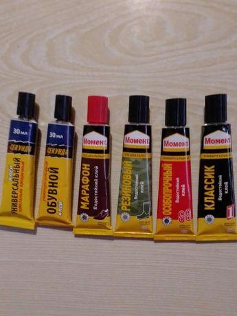 Клеи различные марок «Момент», «Капелька», «Секунда»
