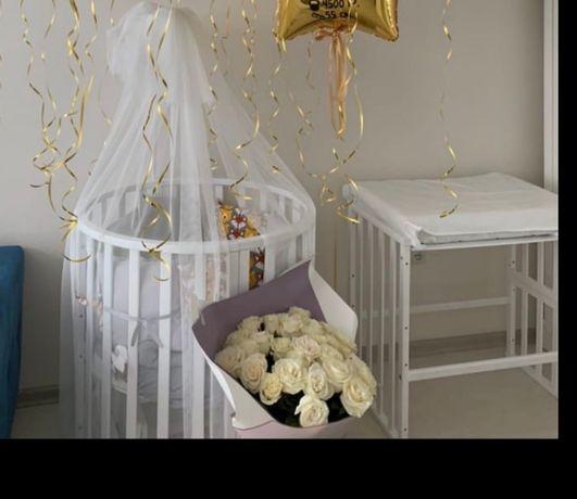Кроватка трансформер детская колыбелька кровать