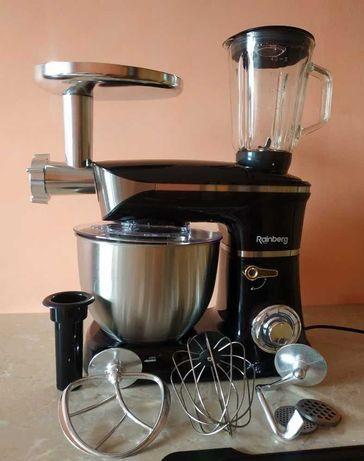 Кухонный комбайн Rainberg 4200W 3 в 1 миксер блендер мясорубка