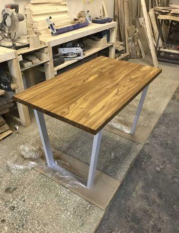 Стол в стиле лофт, массив дерева.