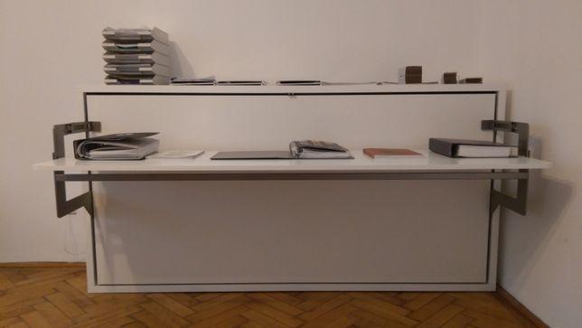 Pat rabatabil 90x200cm cu birou, design modern, mecanisme Italia