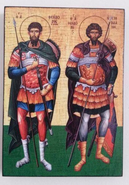 Икона на Св. Св. Теодор Тирон и Теодор Стратилат ikona sveti teodor ti гр. Пловдив - image 1