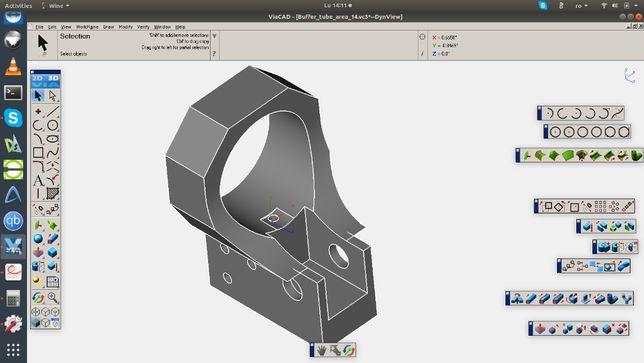 AR15 Receiver -- modelul virtual pe piese componente
