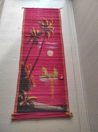 Панно из бамбуковой соломки (Вьетнам - советская эпоха)
