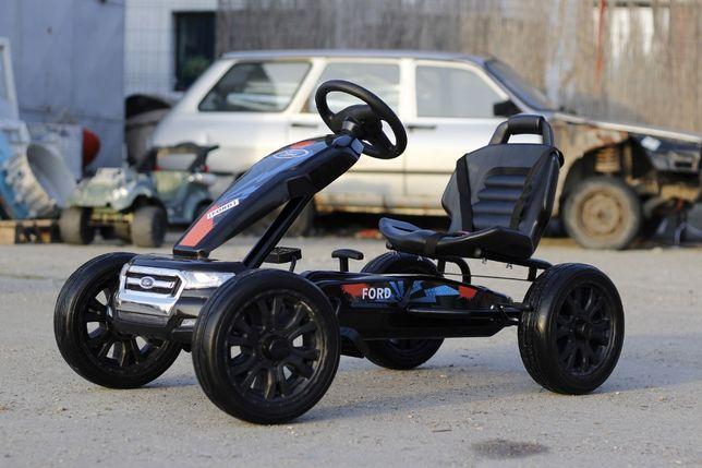Masinuta-Kart cu pedale de la FORD recomandat pt. copil 3-11 ani#Negru
