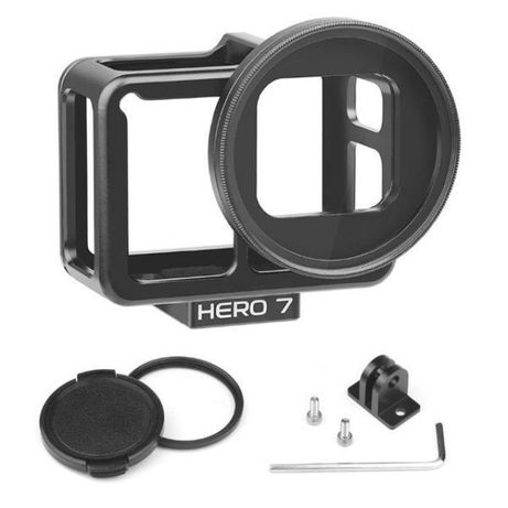 Рамка light version за gopro hero 5/6/7/2018 с uv филтър, алуминий