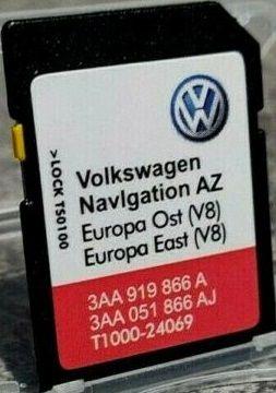 Сд Карта за Американска Навигация US RNS 315 EAST Europe V8 SEAT SKODA