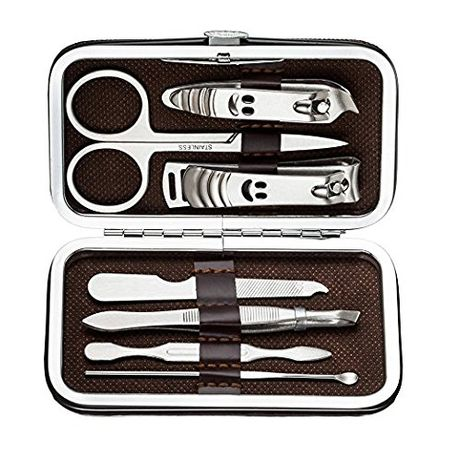 Несесер за маникюр-комплект от 7 части за перфектно оформени нокти