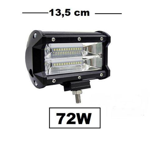 ХАЛОГЕН -LED BAR-- 72W (1бр.) 13.5см. Мотор Камион Бус АТВ Лодки и др.