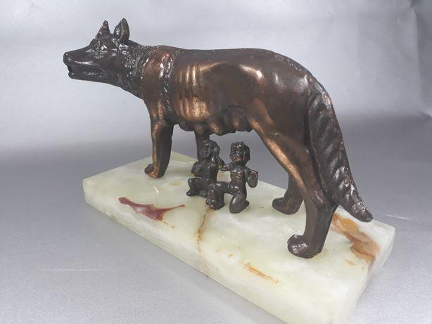Lupoaica Romulus și Remus de colecție original macheta veche