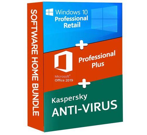 Windows 10 Pro + Microsoft Office 2019 Pro Plus + Kaspersky Anti Virus