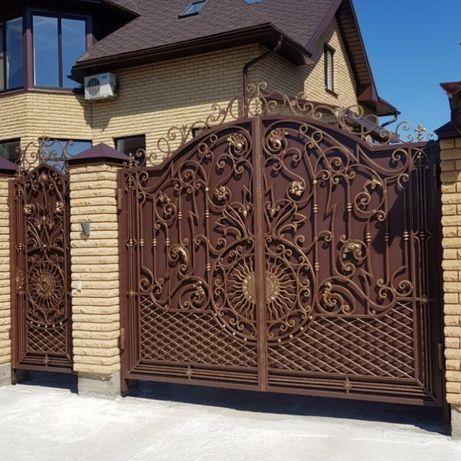 Кованые ворота, двери, беседки, перила, балконы, скамейки, качели.