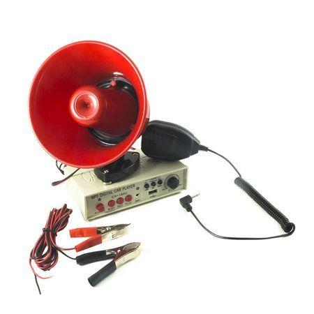 Portavoce Megafon Auto 12V cu suport magnetic,usb si funtie de redare