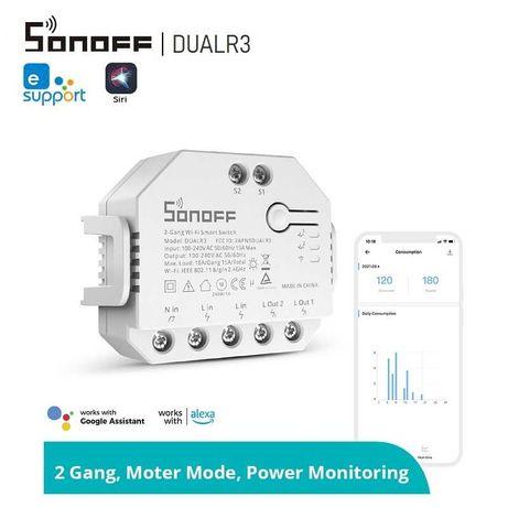 SONOFF DUALR3 – Двуканален WiFi превключвател с измервателен уред