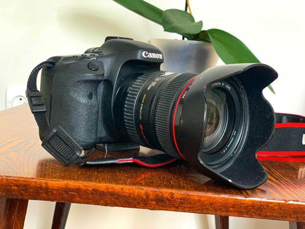 Продам Canon EOS 7D, + 2 Линзы 24-105, + Sigma 8-16mm, + весь комплект