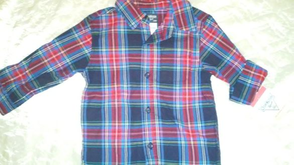 Детска Риза с дълъг ръкав Osh Kosh Bgosh