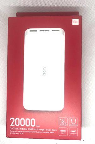 Baterie externa Xiaomi Redmi Fast Charge18W, 20000mah, noua, alba