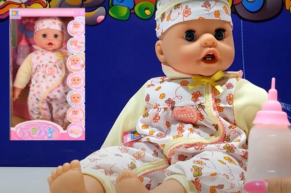 Интерактивно бебе със зъбки, говори, плаче, кукла +шише и др аксесоари
